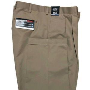 Roundtree & Yorke Travel Smart Pants Khaki 44 x 32